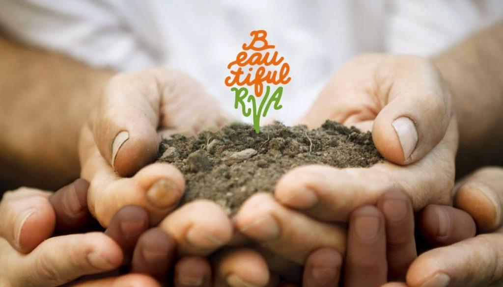 Beautiful RVA - hands holding dirt/plant